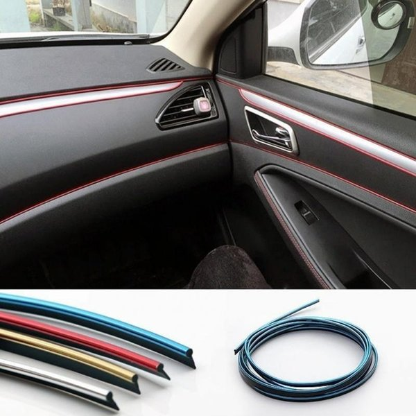 Car toy 5 M Adhesive Strips for Decoration Molding Door Line Air Vent Panel Direction-Flexible Wheel In Car Styling Auto Accessories