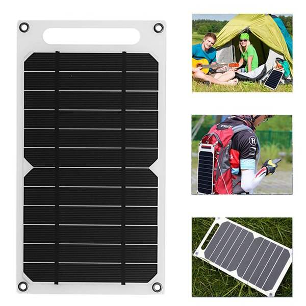 Solar Panel Charger 5 Watt Ultra-Lightweight USB Port Portable Power Paper Shaped Monocrystalline Silicon for Cell Phone Camping