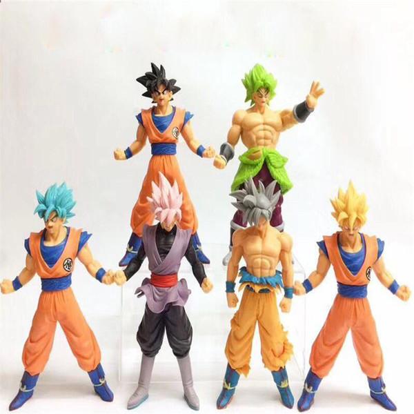 Newsale 26cm Dragon Ball Z Şekil MSP Usta Yıldız Piece Vegeta Sandıklar vegetto Son Goku siyah çikolata goku PVC Action Figure Oyuncak