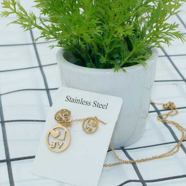 Liebes-Wort-Halsketten-Ohrring-Satz, Goldliebes-Halskette, Love1 Necklace1, Liebesbrief-Halskette, Wort Necklace2, Silber oder Gold überzogen