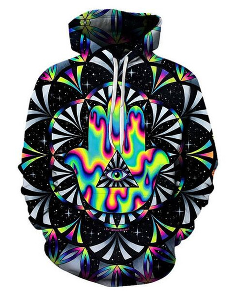 Psychedelic Printed Hoodies Men 3d Hoodies Brand Sweatshirts Women Jackets Quality Pullover Fashion Tracksuits Streetwear Out Coat RE010