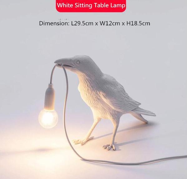 화이트 테이블 램프 B