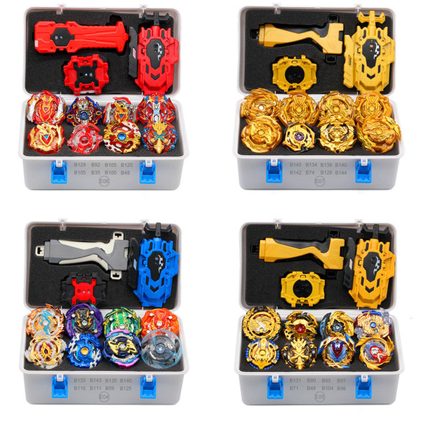 best selling 2019 Gold Takara Tomy Launcher Beyblade Burst Arean Bayblades Bables Set Box Bey Blade Toys For Child Metal Fusion New Gift Y200703
