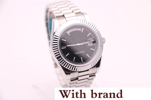 Стиль Высокого Качества Роскошные Автоматические Часы Для Мужчин Дата Черный Циферблат Band Механические Часы Montre Homme
