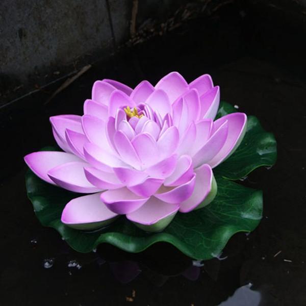 NOVA Fish Tank Lotus 17 CM Diâmetro Artificial PU Lótus Flutuante Água Jardim de Casa flor De Lótus POPULAR