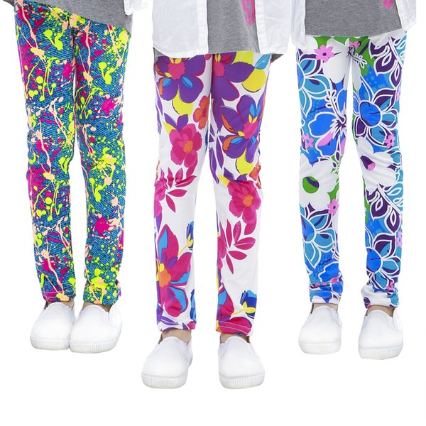 Girls Leggings Printing Flower Legging Infantil Para Menina Toddler Classic Leggings for Girl Teens Pencil Pants Kids Trousers