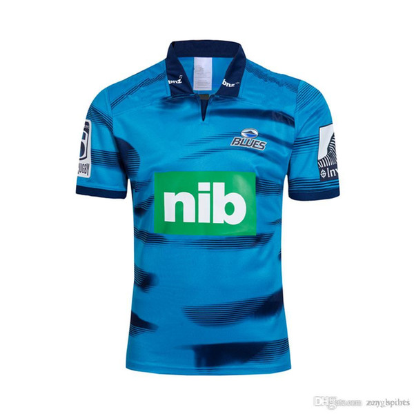 Neuseeland Super Rugby Trikots 2019 Blues Trikot Heim Auswärts Rugby Trikots Liga Trikots 18 19 Blues Trainings Trikot Hooded Rugby Sweat