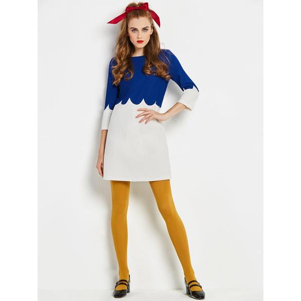 Женщины мини-платья элегантный сладкий винтажный офис леди англия стиль молния синий весна 2019 женская мода короткое платье