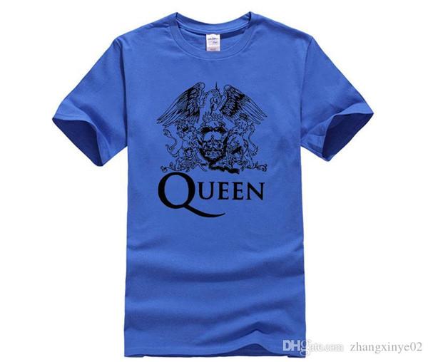 Tasarımcı t gömlek KRALIÇE LOGO Band Tişört pamuk Likra üst 2983 Moda Marka t shirt erkek yeni DIY Stil yüksek kalite