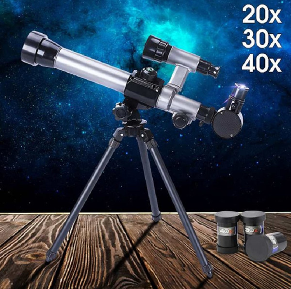 best selling 40X Zoom Astronomical Telescope Kids Monocular Binoculars Tripod Night Vision for Camping Hiking Outdoor Hunting 60mm