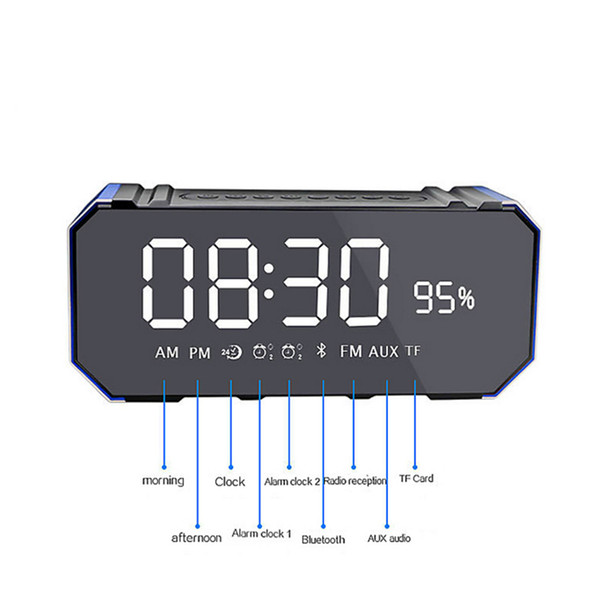 new top sell Mini 10W Bluetooth Wireless Speaker with LED Clock, Lightweight, Big Sound, Bass and Large Dimmable Display for sell