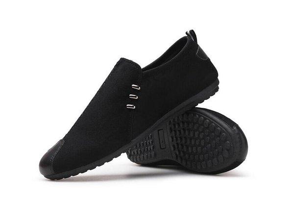 2019 Mann Schuhe Walking Belüftung Casual Männlich Männer Sapato Masculino Leinwand Slip Driving Mokassin Müßiggänger Flache Schuhe Herrenschuhe