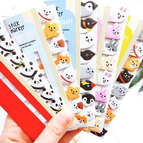 Mini Yapışkan Notlar Sevimli Kawaii Karikatür Hayvanlar Kedi Panda Bloknot Yapışkan Notlar Memo Dizüstü Kırtasiye Not Kağıt Çıkartmalar okul Malzemeleri