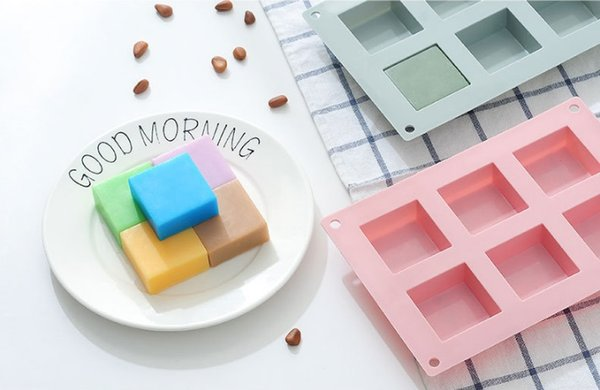 6 holes Small Square 3D Shape Non-Stick Silicone Cake Mold for Baking DIY Jelly Muffin Mousse Ice-creams Chocolate Tool