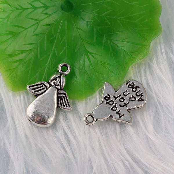 Mixed Vintage Silver Pierced Angel Flying Angel Charms Pendants For Jewelry Made Angel Necklaces Bracelet Crafts DIY Party Lucky Gifts Hot