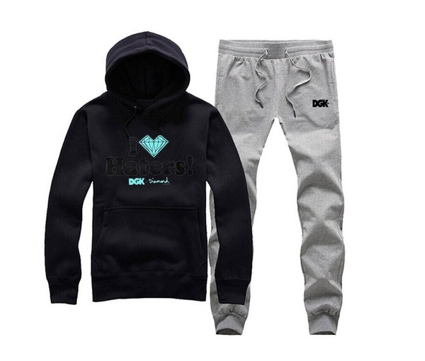 s-5xl u002 free shipping Factory outlets New Autumn Men Tracksuits Slim Fit Fleece Hoodies Printing Male suit