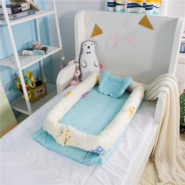 top popular Baby Nest Bed Crib Portable Kids Sofa Bed Removable And Washable Crib Travel Bed For Children Infant Kids Cotton Cradle 2021