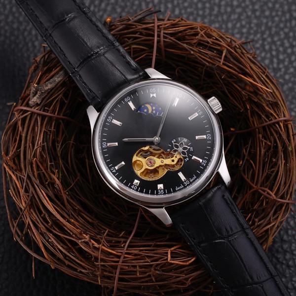 Высокое качество мода простой часы автоматические механические часы водонепроницаемые спортивные часы мужские лучший подарок популярные мужские