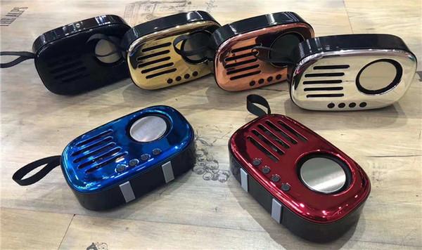 OKCY A8 Altavoz inalámbrico portátil Bluetooth para exteriores Retro Altavoces bajos pesados Mini altavoces Diseño de radio Envío gratuito de DHL
