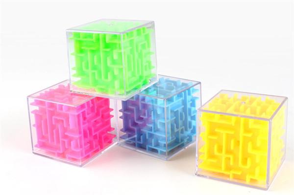5.5CM 3D Cube puzzle labirinto della mano del giocattolo del gioco della scatola della cassa Divertimento cervello sfida gioco Fidget Giocattoli Balance giocattoli educativi per i bambini
