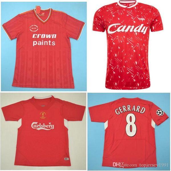 85 86 89 Gerrard Retro Maglie Alonso Soccer Jersey 05 05 Baros Luis Garcia Vintage classica Smicer Football Shirt 2005 maglie di piede