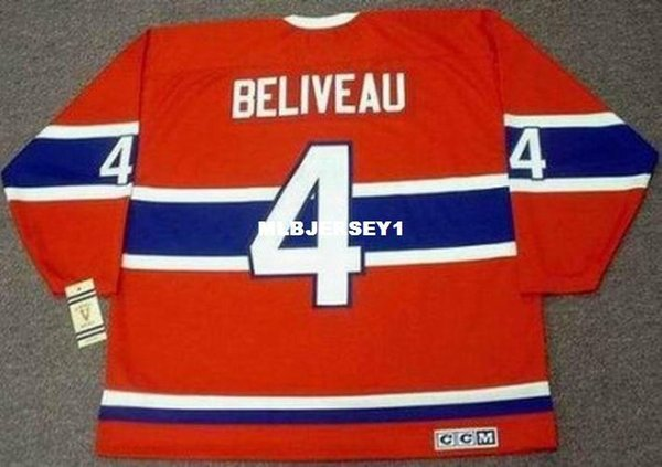 Wholesale Mens JEAN BELIVEAU Montreal Canadiens 1968 CCM Vintage Cheap Retro Hockey Jersey