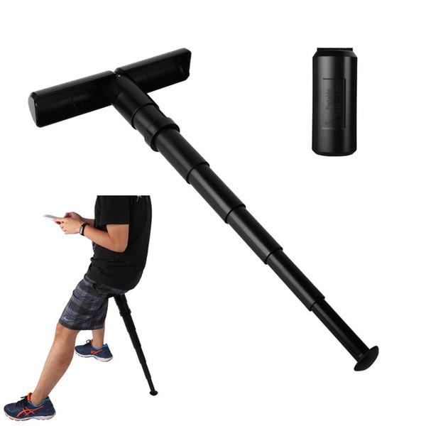 Black T Shape Plastic Portable Telescopic Stool With Drawstring Bag Set Outdoor Sports Fish Wait Sit Folding Chair 025