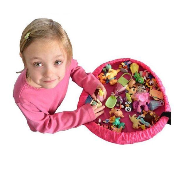 45*45CM Children Round Toy Bag Baby Bunny Bag Building Blocks Storge Bag Kids Jigsaw Puzzles Holder 30 Pieces DHL