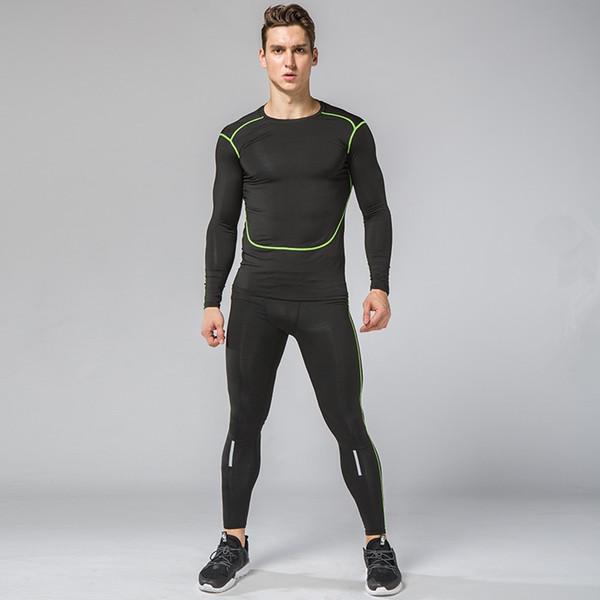 Compre Hombres Camisas De Manga Larga Juegos Corrientes GIMNASIO Medias Fitness Kit De Deporte Ropa Fútbol Baloncesto Ropa Interior Pantalones