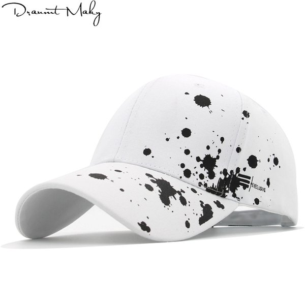 Mens Baseball Cap Cotton Poker Print Ball Dad Trucker Caps For Adult Women Men