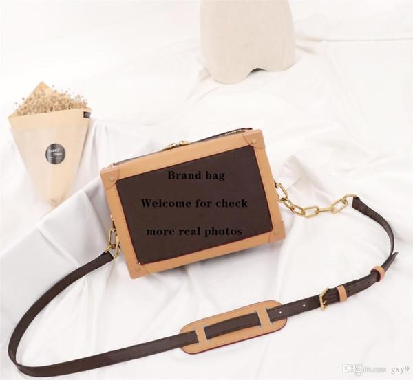 Newest men's shoulder bag high quality luxury bag fashion Alphabet pattern Paris MINI SOFT TRUNK handbag Size 25x18x10cm model M44460