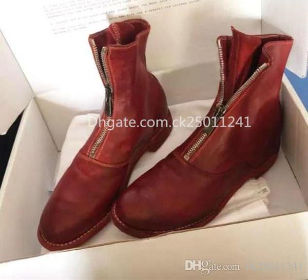 la moda marca de lujo de cuero botas de Martin web de celebridades calientes del estilo de las mujeres de París botas botas flacos desnudos se pueden personalizar el zapato de gran tamaño 08