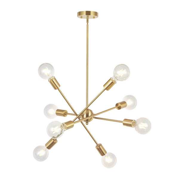 8 Lights Modern Sputnik Chandelier Lighting With Adjustable Arms Mid Century Pendant Light Vintage Industrial Farmhouse Ceiling Light Kitchen Pendant