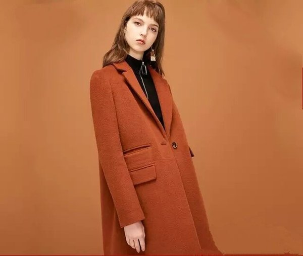 59bc12411 2019 New Style Womens' Winter High-end Double-sided Wool Long thick Woolen  Coat Letter Embroidery Multi-pocket Decoration