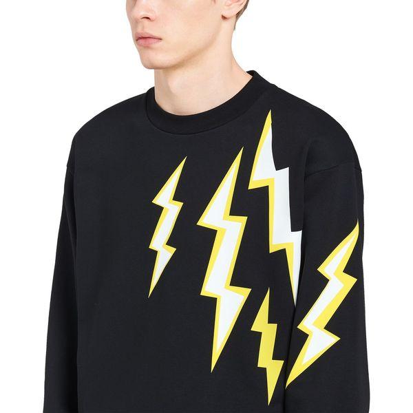 2019 nuovo arrivo stampa lightnig mens felpa pullover designer sport casual moda di marca moda di alta qualità bianco nero LJJ198279