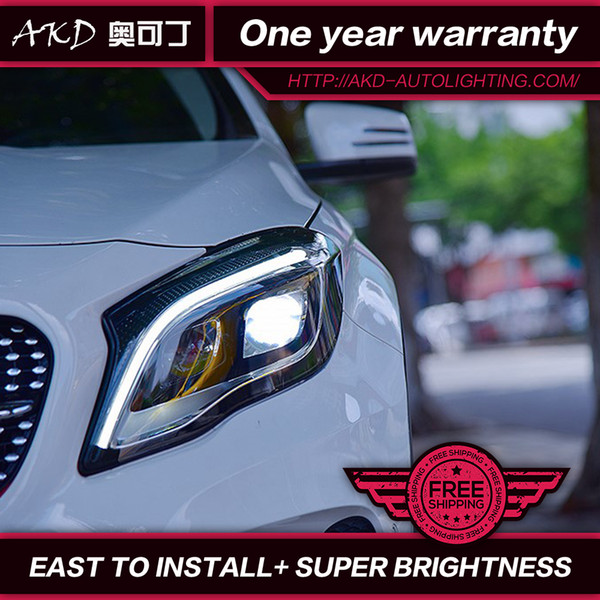 wholesale Car Styling Head Lamp for Benz GLA200 LED Headlight 2015-2018 Mercedes-Benz LED Headlight DRL Bi-Xenon Lens HID