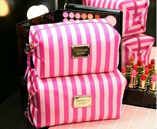 Bella borsa cosmetici borse VS donne sacchetto di trucco organizzatore e borsa da toilette all'ingrosso sacchetti cosmetici di marca più economici