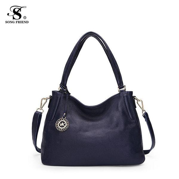 Новая мода 2019 женские сумки через плечо сумка через плечо женская повседневная большие сумки из воловьей кожи женская сумка Hobo Messenger