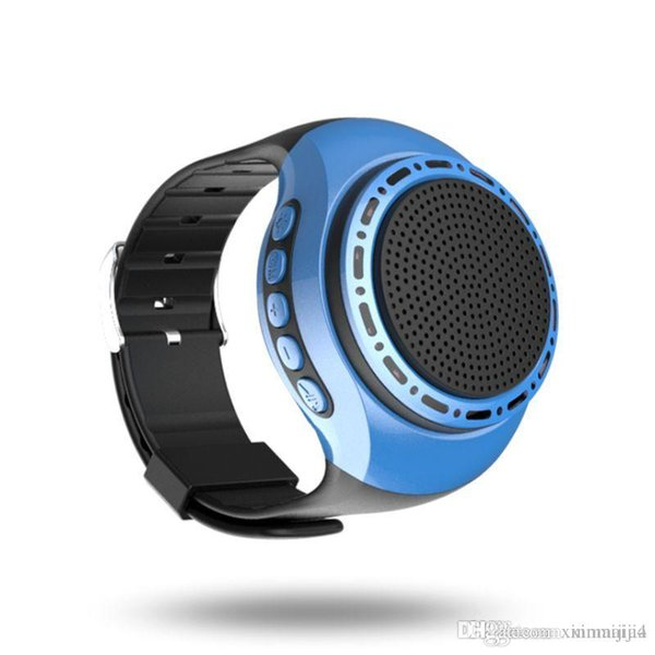 Mini Bluetooth Wireless Watch Wrist Speaker Portable For Mobile Cell Phone PC Tablet 400mAh