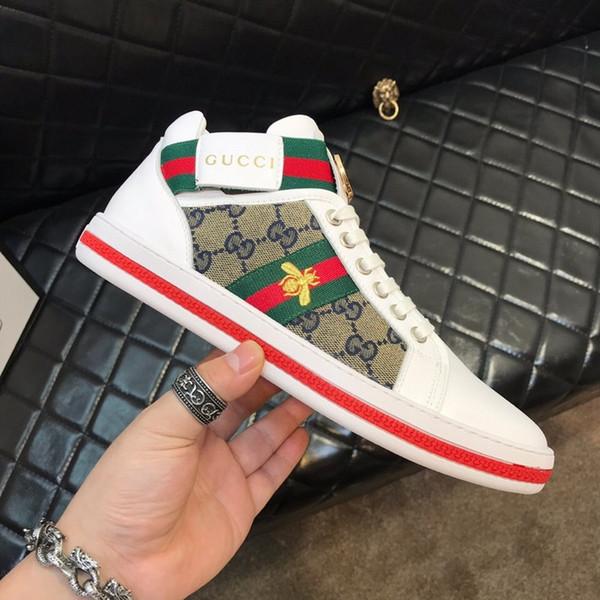 Yeni adam marka ayakkabı Glitter Web sneaker ile çiviler şerit ile en kaliteli rahat ace kadınlar için ayakkabı tasarımcılar ayakkabı boyutu