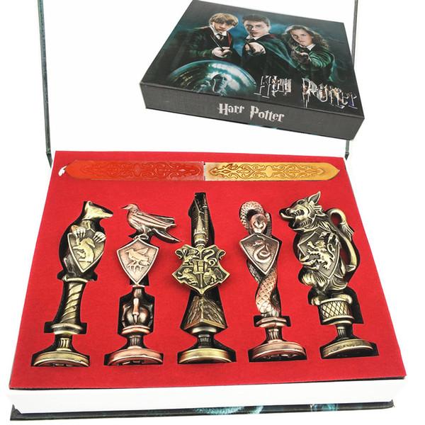 Харри Поттер печать штамп Хогвартс старинные алфавит воск 3D металлический значок печать наборы Гермиона волшебная палочка оружие брелок ожерелье игрушка