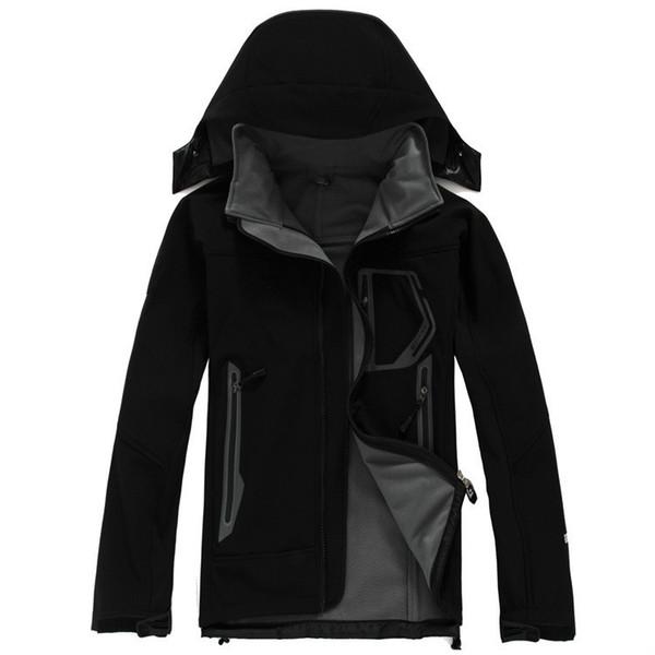 2019 SOFTSHELL GIACCA invernale Giacca da uomo impermeabile antivento traspirante cappotti Giacca da bomber da sci caldo all'aperto Mans Abiti da caccia Plus