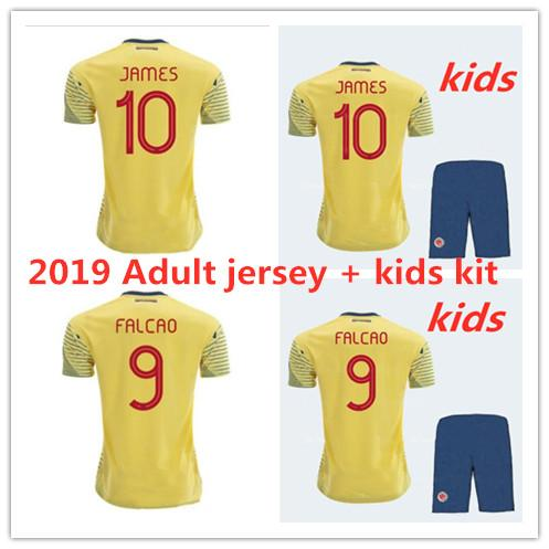 2019 new Colombia maillots de football 18 19 maillots pour hommes HOME # 9 FALCAO # 10 JAMES 11 # CUADRADO TEO BACCA maillots de football maillots équipe nationale