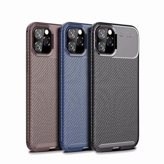 Karbon Fiber Yumuşak TPU Kılıf Iphone 11 Pro Max 2019 5.8 6.1 6.5 inç X XR XS Max Google Piksel 4 4XL 3A XL Oneplus 7 Pro Beetle Zırh Kapak