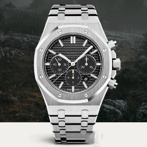 10 cor REAL OAK Relógios Homens Relógios Mecânicos Automáticos Clássico Wtyle 41mm Aço Inoxidável Completa de Quartzo Relógios De Pulso Safira