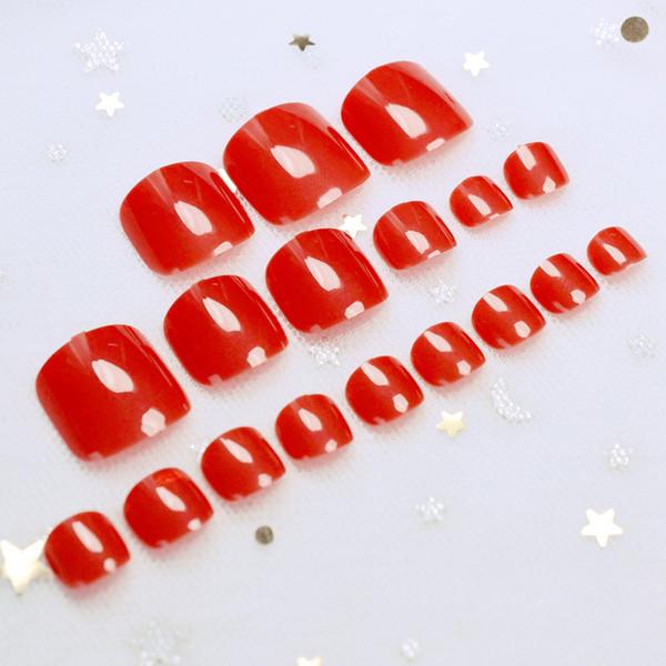 Сексуальный красный конфеты цвет ногти Акриловые ложные ногти советы для ногтей искусства декор DIY полный советы ногтей
