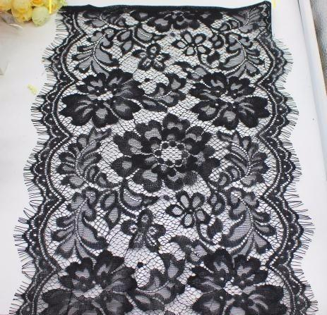 2019 For Lingerie Knitted Mesh Fabrics Shiny 100% Nylon Underwear Lace Black And White Trims 300CM Long #4