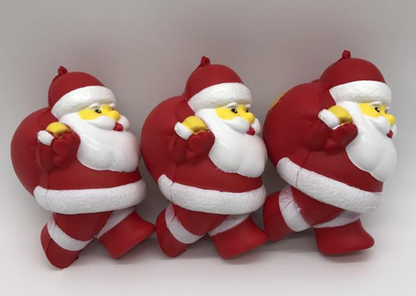20pcs lot-rare Squishy Santa Claus 12.5cm Cell Phone Straps charms Squishy Slow Rising Squishies Charms Kid Toys Cute wholesale