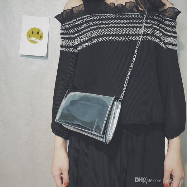 Classic pattern black/white PU Coat of paint Bag women handbag with famous logo Cosmetic Makeup Storage Case VIP gift bag