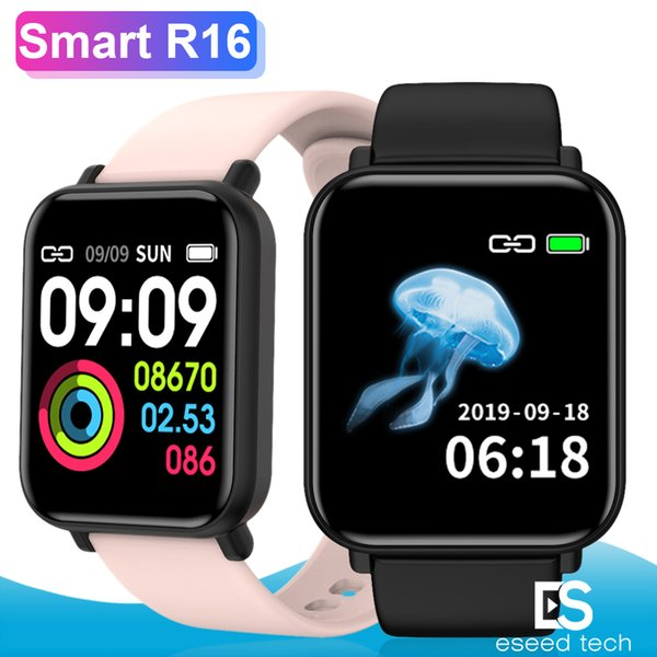 Akıllı İzle R16 Nabız Tansiyon Bilezik Sağlık Tracker Monitör Çoklu Spor Mesaj Ekranı Erkekler Kadınlar Su geçirmez Şerit Smartwatch